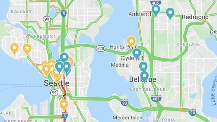 Seattle traffic disappears as Amazon, Microsoft, others enforce remote work policies